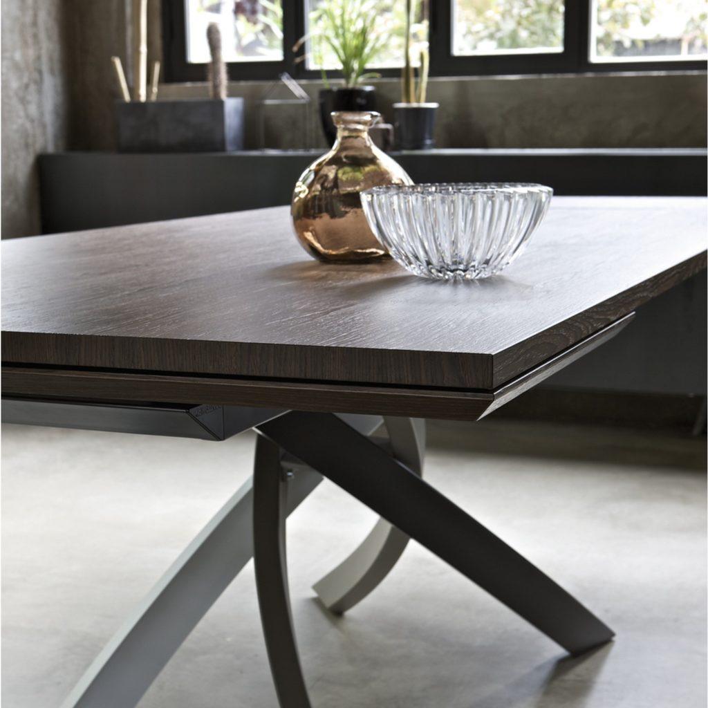 Arredamento Casa Moderno artistico table bontempi in glass: sizes - arredare moderno
