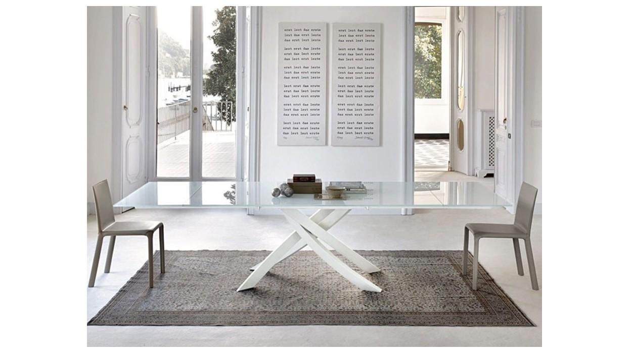 Tavoli in cristallo allungabili bontempi for Tavoli in vetro allungabili economici