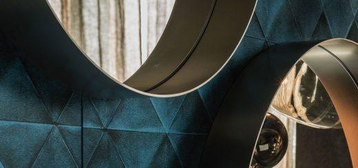 specchio a parete modello wish