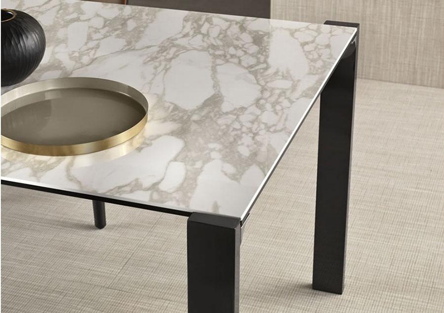 Tavolo Livingstand Ceramic Tonelli piano in ceramica