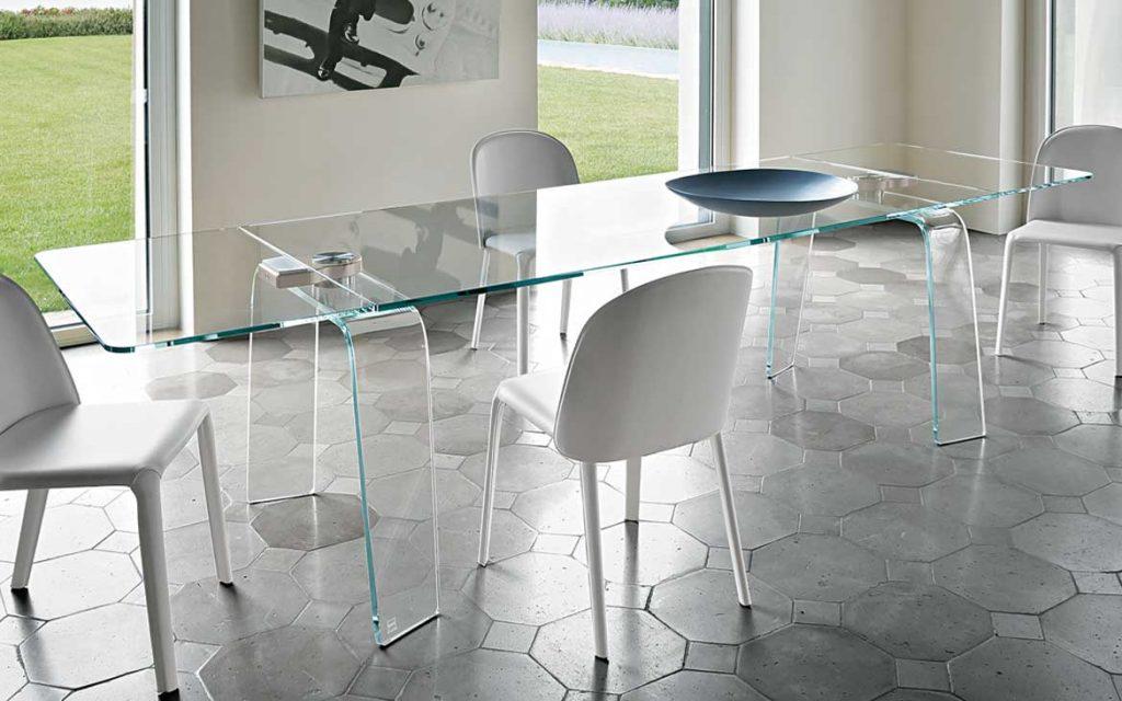 tavolo allungabile in cristallo Fiam Arredare Moderno