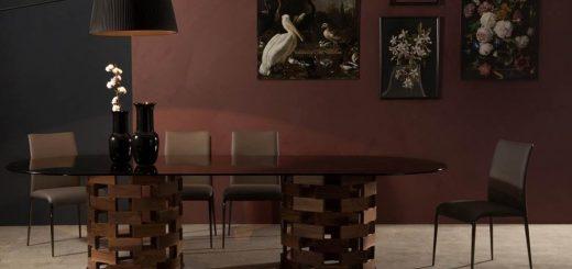tavolo con piano in marmo Big Colosseo tonin Casa