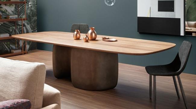 arredo soggiorno moderno tavolo Mellow Bonaldo Arredare Moderno