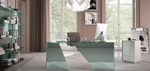 arredamento moderno scrivania vetro Fiam Scribe Arredare Moderno