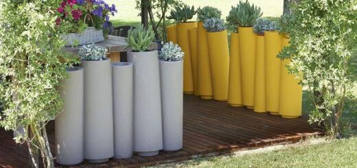 vasi da esterno moderni bamboo slide arredare moderno