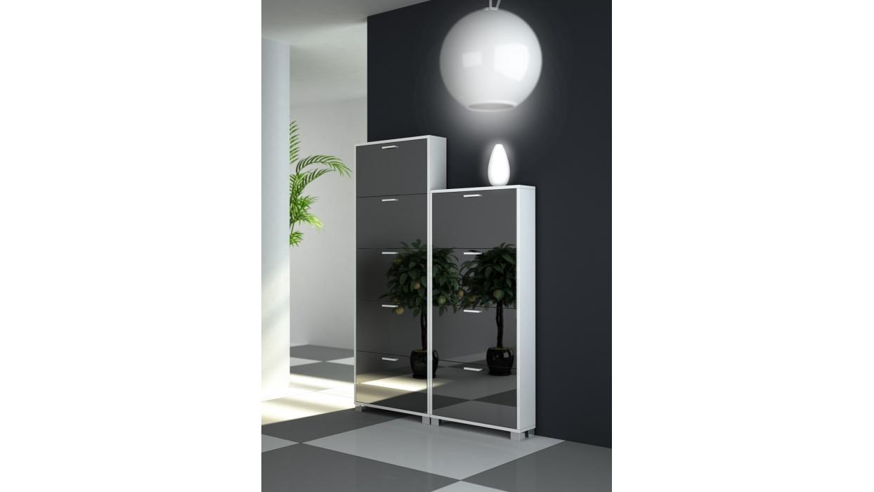 Scarpiera slim specchio 15 paia - Arredare Moderno