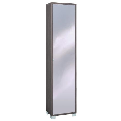 Mobile colonna legno con anta specchio