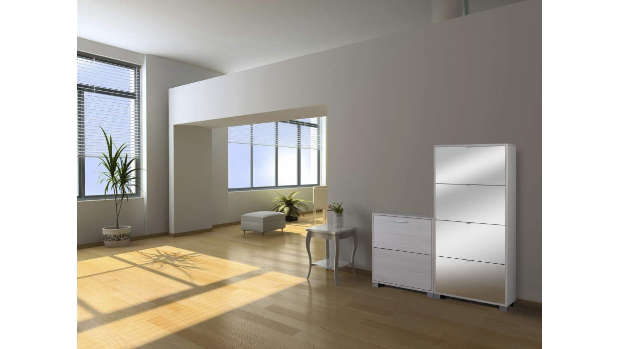 scarpiera slim design 12 paia arredare moderno. Black Bedroom Furniture Sets. Home Design Ideas