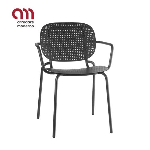 Si-Si Dots Stuhl Scab Design mit Armlehnen