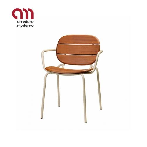 Si-Si wood Stuhl Scab Design mit Armlehen