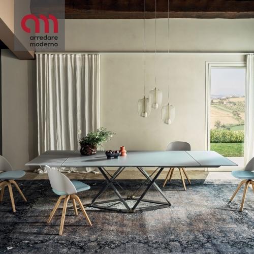 Delta Bontempi ausziehbarer rechteckiger Tisch