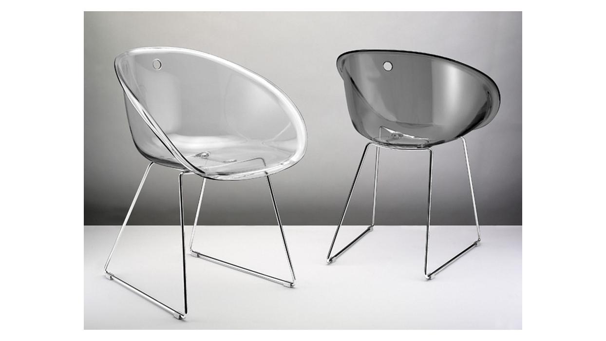 stuhl pedrali muster durchsichtiger gliss arredare moderno. Black Bedroom Furniture Sets. Home Design Ideas