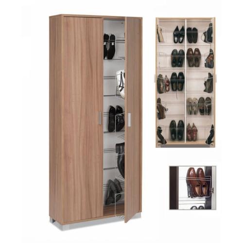 Scarpiera armadio in legno 40 paia