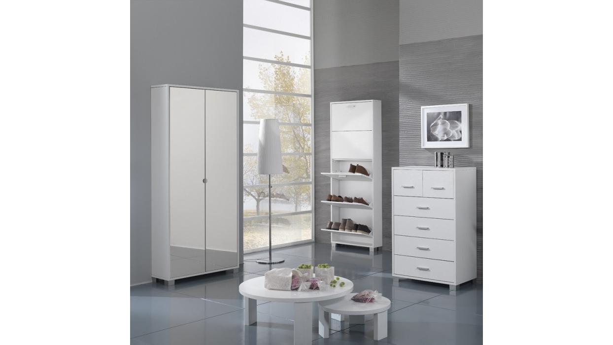 Shoe cabinet with mirror 20 pairs - ARREDARE MODERNO