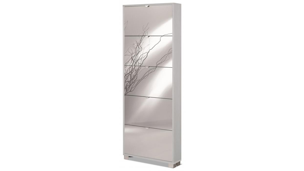 Scarpiera slim specchio 15 paia arredare moderno for Scarpiera con specchio ikea