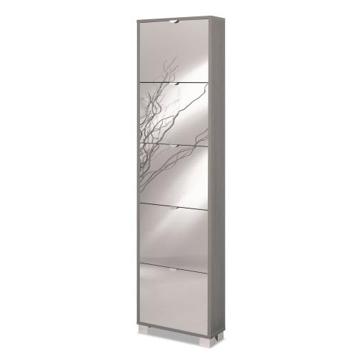 Scarpiera slim legno specchio 10 paia