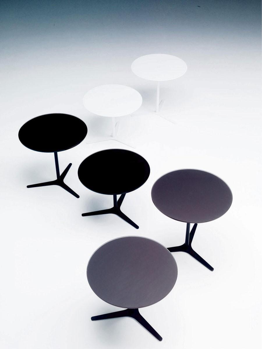 tavolino bontempi casa modello elica - arredare moderno - Tavolino Acciaio Laccato Ginger Bontempi