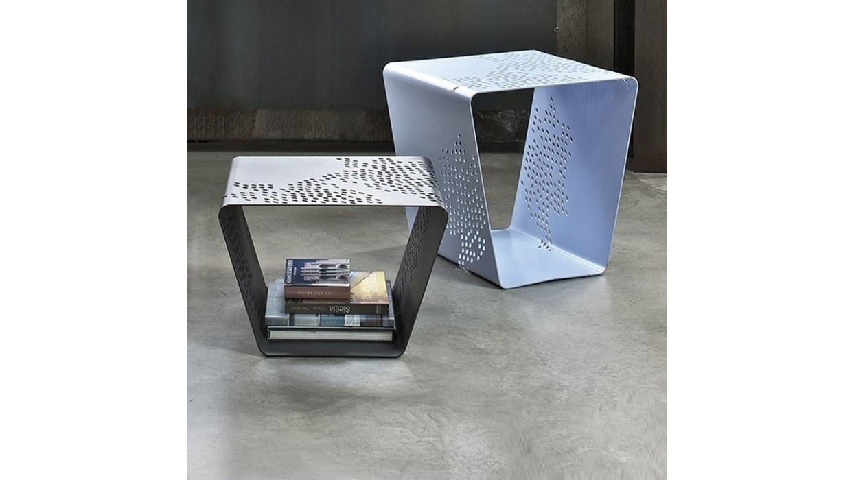 coffee-table bontempi casa model pattern - arredare moderno - Tavolino Acciaio Laccato Ginger Bontempi