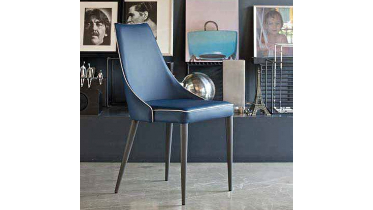 chair bontempi casa model clara arredare moderno. Black Bedroom Furniture Sets. Home Design Ideas
