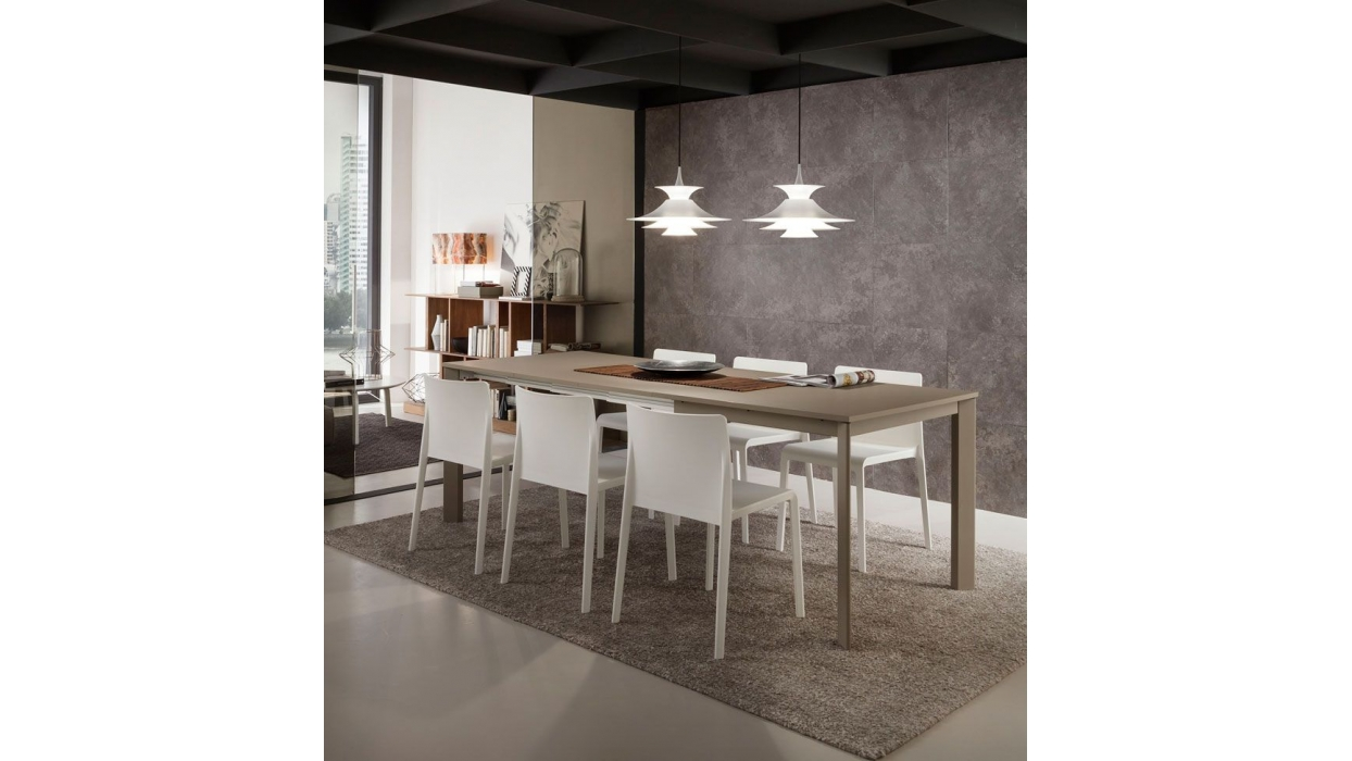 Extensible table la primavera mario super square for Table extensible hpl