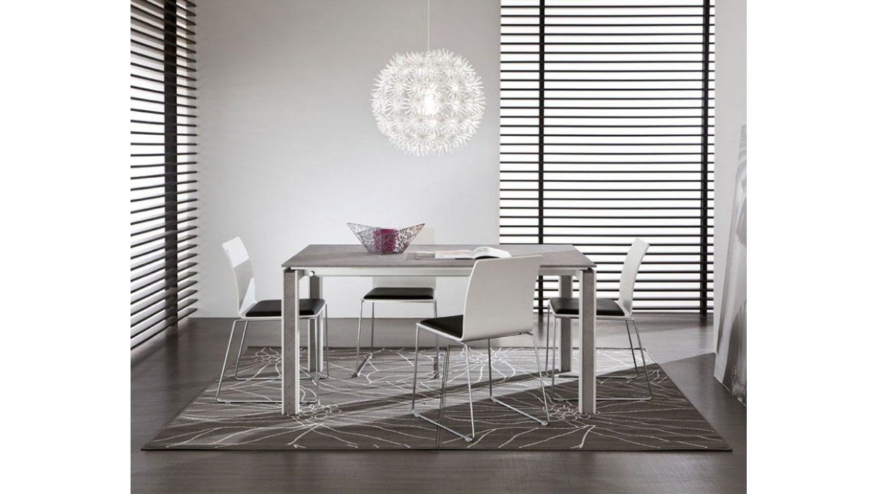 Extensible table la primavera model giovanni arredare for Table extensible 90