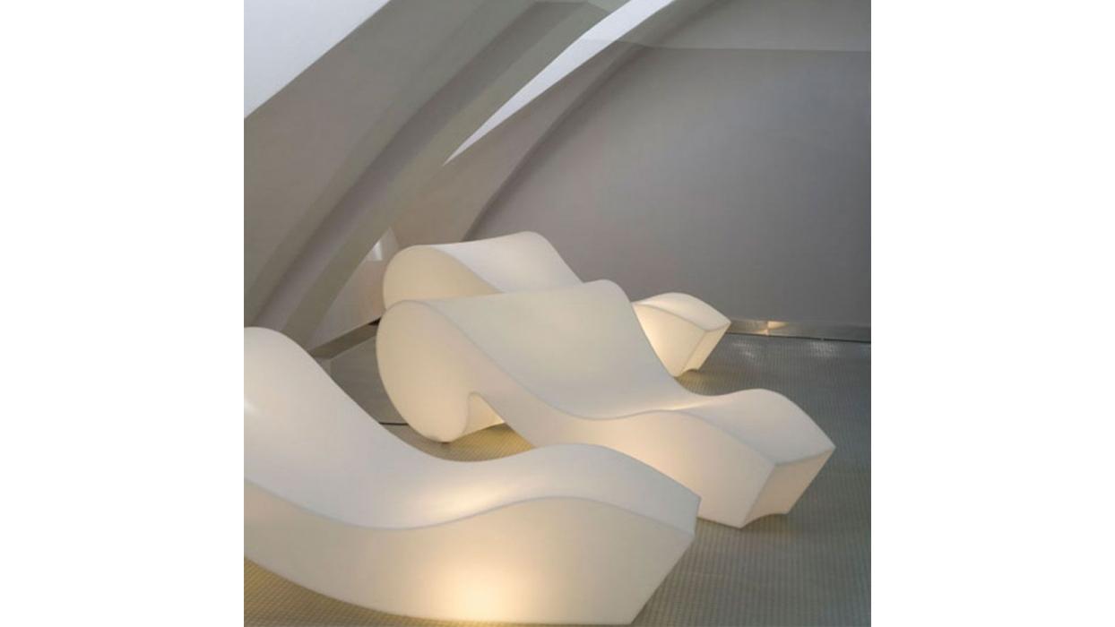 Armchar Chaise Longue Slide model Rocoò - ARREDARE MODERNO