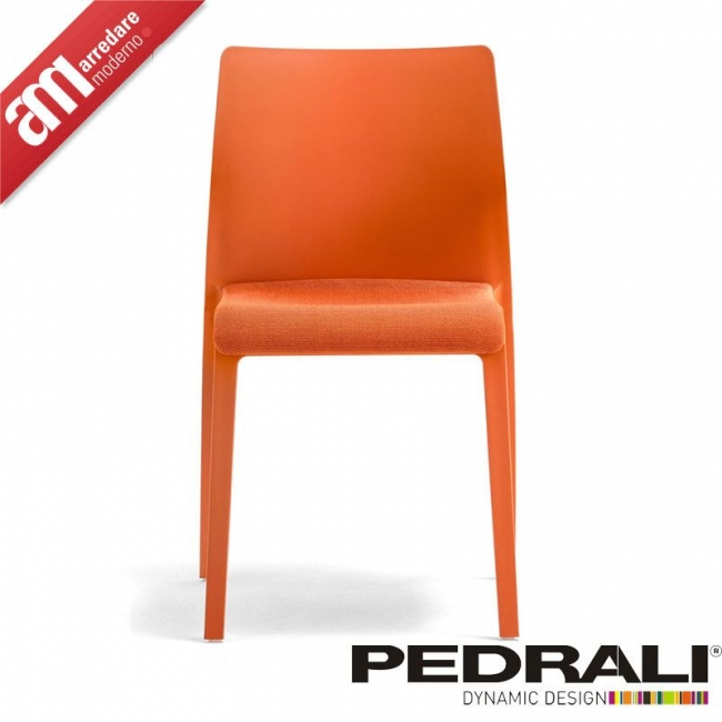 Volt Hb Chair With Upholstered Seat Pedrali