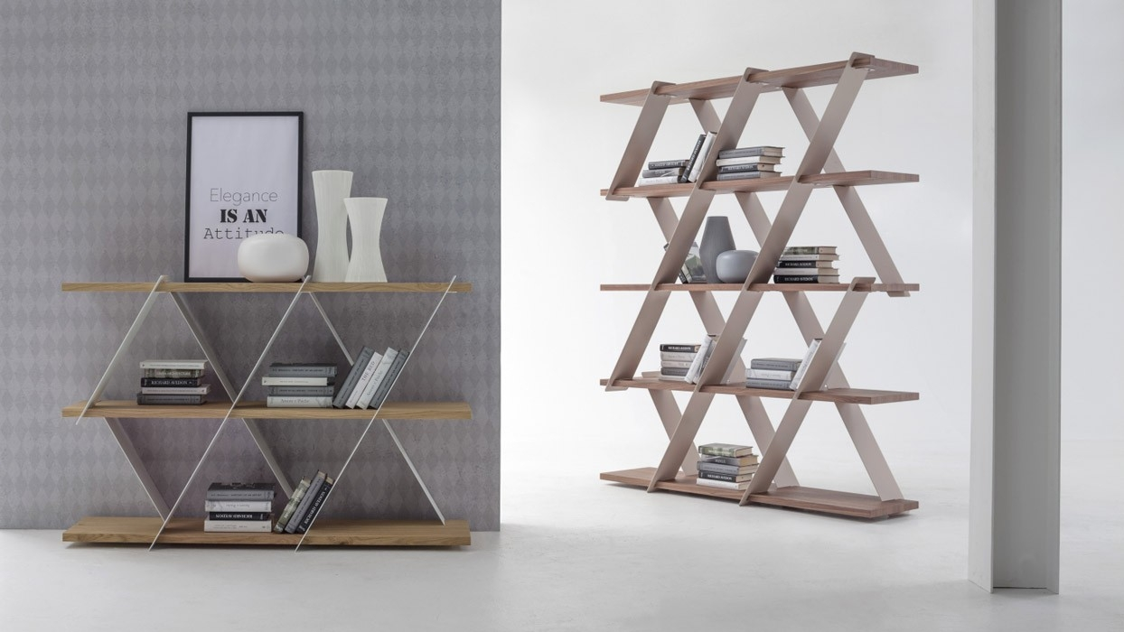 bookcase Tonin Casa model Castle -ARREDARE MODERNO