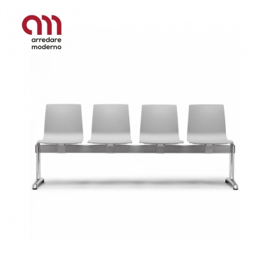 Alice fireproof bench for waiting room 4 places Scab