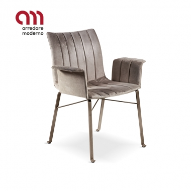 Ginevra chair Cantori with armrests
