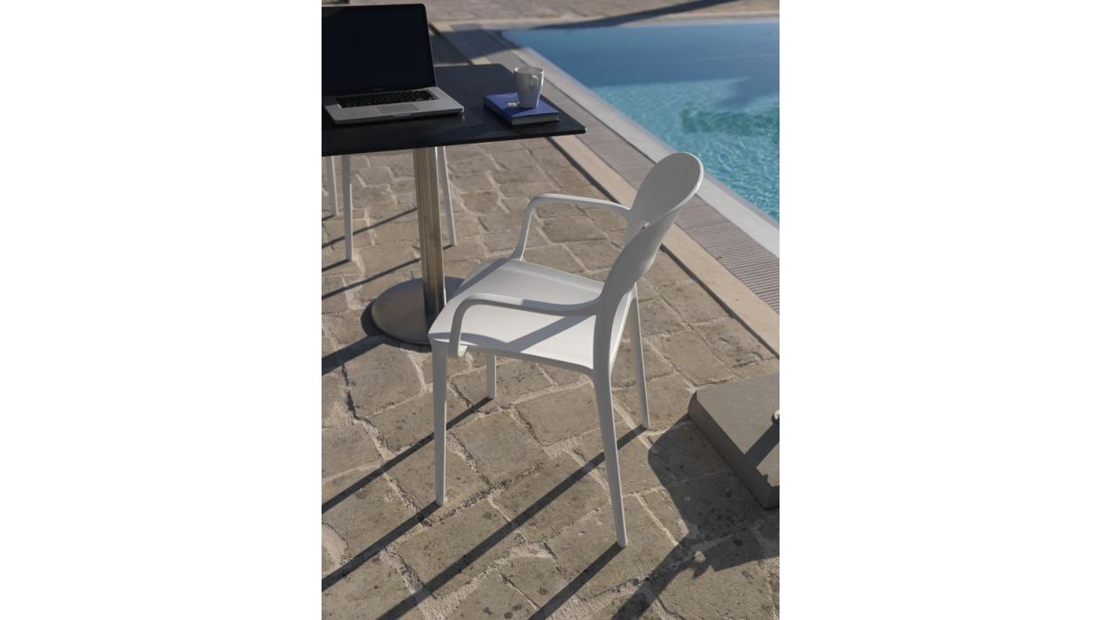 chair bontempi casa model gipsy with armrests arredare. Black Bedroom Furniture Sets. Home Design Ideas