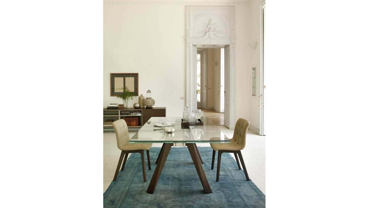 table bontempi casa model aron extendable arredare moderno. Black Bedroom Furniture Sets. Home Design Ideas