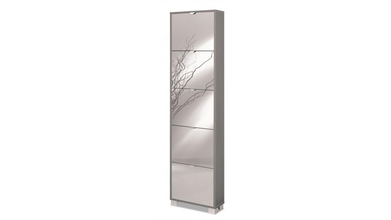 Scarpiera slim legno specchio 10 paia arredare moderno - Serigrafia su specchio ...