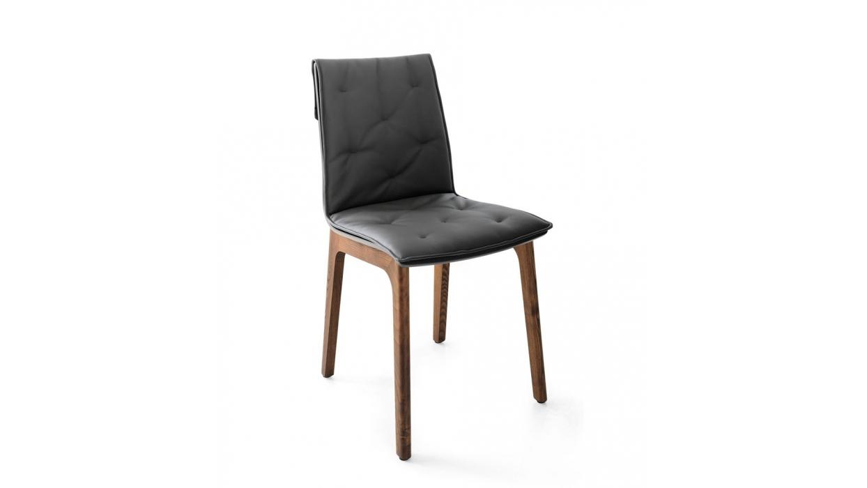 chaise bontempi casa mod le alfa avec coussin arredare moderno. Black Bedroom Furniture Sets. Home Design Ideas