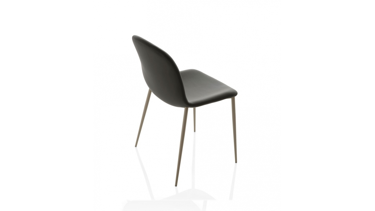 chaise bontempi casa mod le seventy en acier arredare moderno. Black Bedroom Furniture Sets. Home Design Ideas