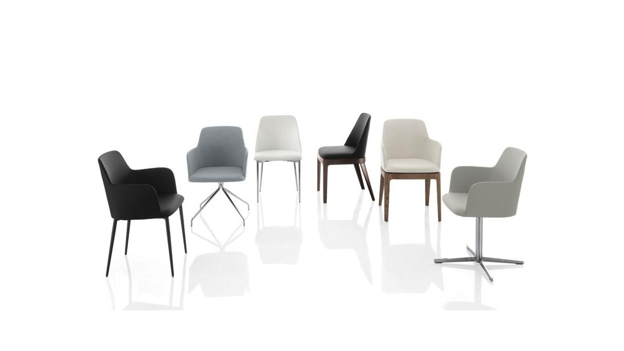 chaise bontempi casa mod le margot avec accouddoirs arredare moderno. Black Bedroom Furniture Sets. Home Design Ideas