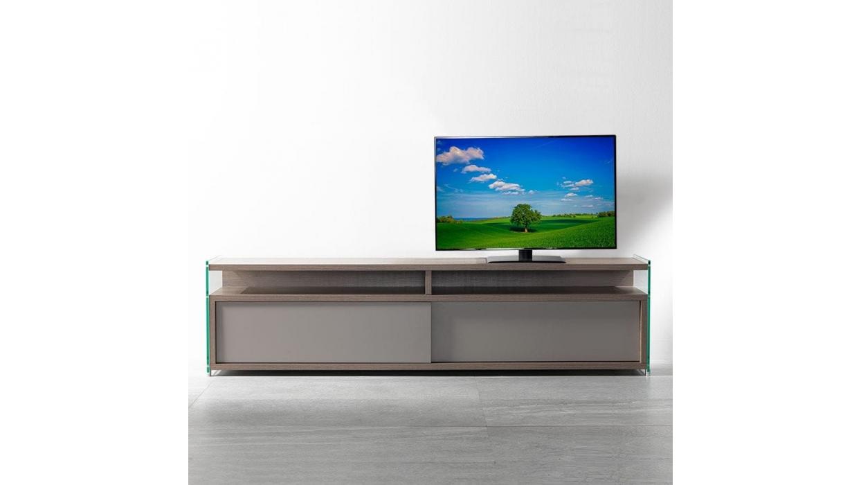 Meuble tv media pezzani 0 36 arredare moderno for Meuble a porte roulante