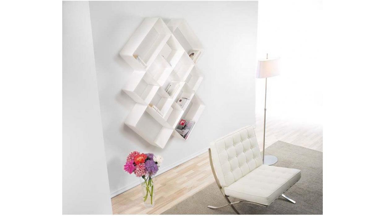 Bibliothèque Mondrian Pezzani Composition con 2 élément 75  -> Bibliotheque Composition