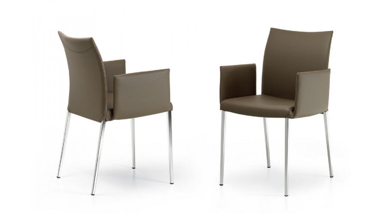 chaise cattelan italia avec accoudoirs mod le anna arredare moderno. Black Bedroom Furniture Sets. Home Design Ideas