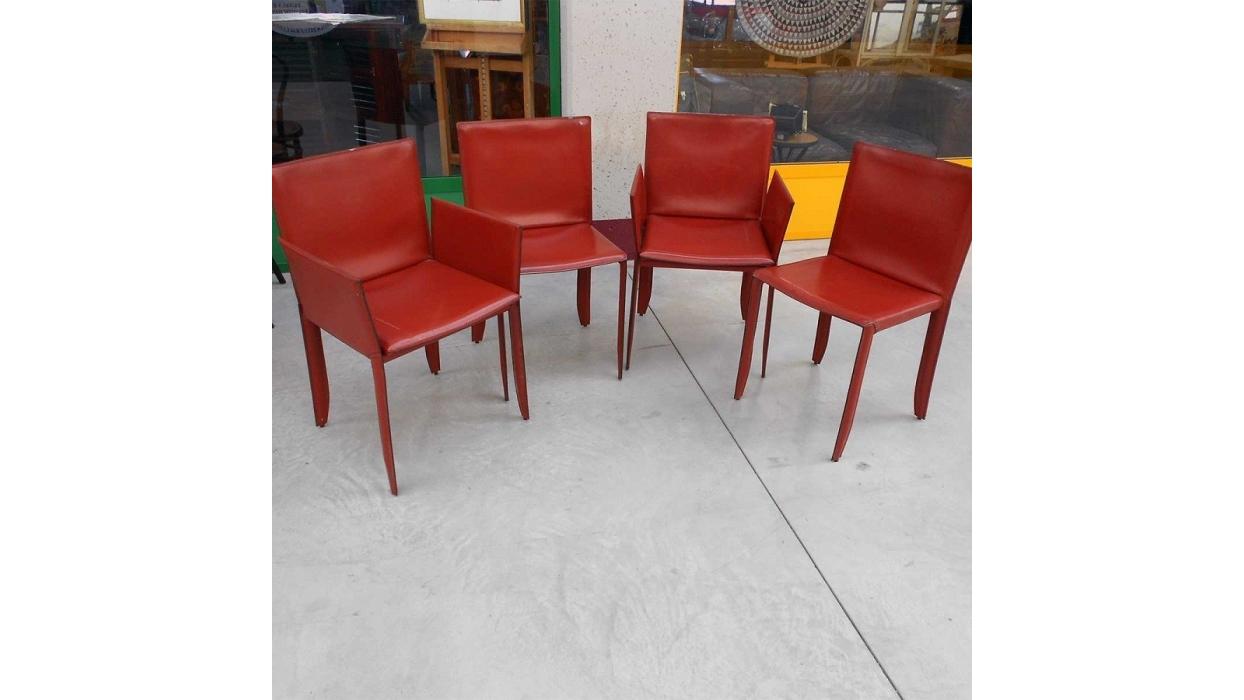 chaise cattelan italia mod le piuma avec accoudoirs arredare moderno. Black Bedroom Furniture Sets. Home Design Ideas