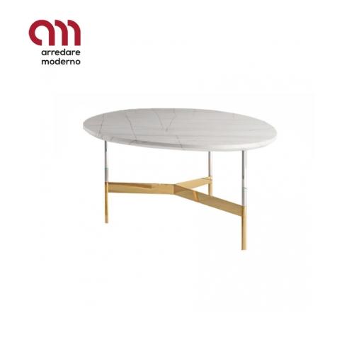Table basse After9 Tonelli Design plateau en marbre