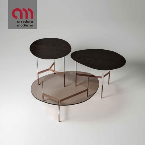 Table basse After9 Tonelli Design plateau en bois