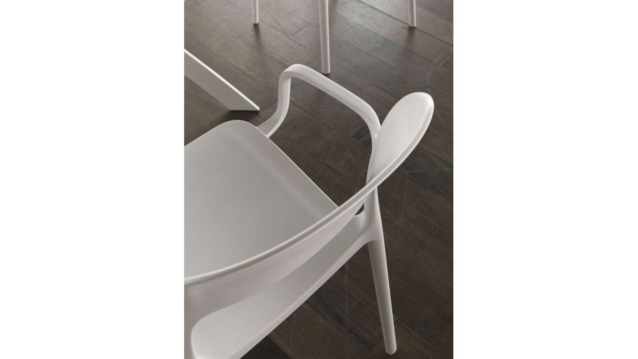 Chaise bontempi casa mod le gipsy avec bras arredare moderno for Chaise avec bras