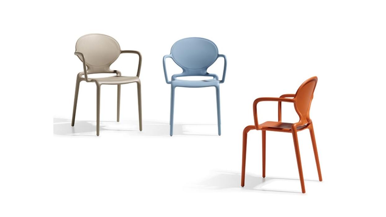 Chaise gio avec bras scab arredare moderno for Chaise avec bras