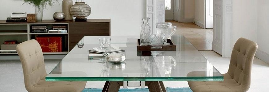 Tables extensibles en verre