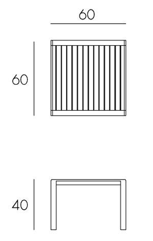 Tavolino Aria 60 Nardi misure e dimensioni