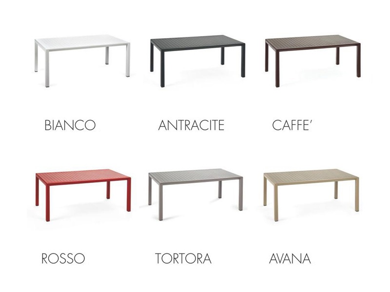 Tavolino Aria 100 Nardi colori