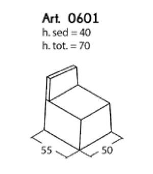 divanetto legno 1 posto : Divanetto Bar Componibile Modulo 1 Posto PD 0601 - ARREDARE MODERNO