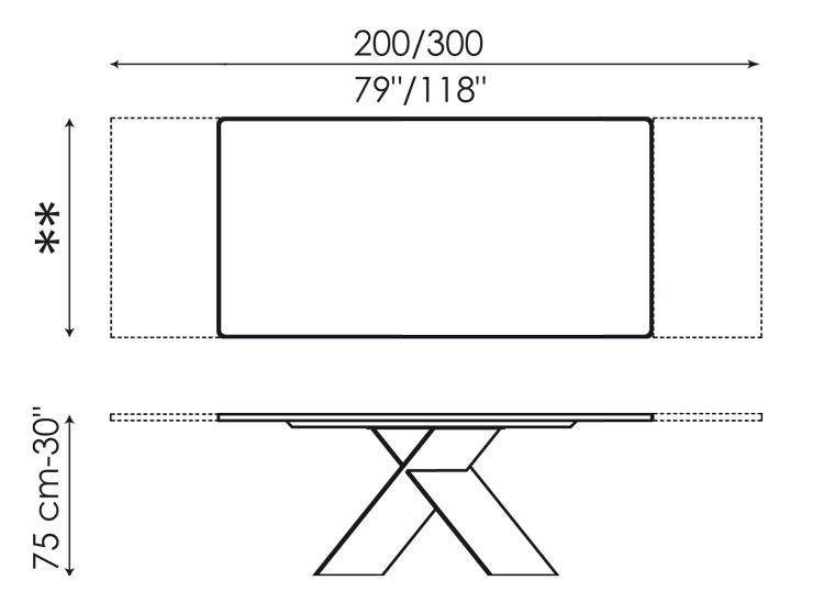 Ax Bonaldo Table Extendable
