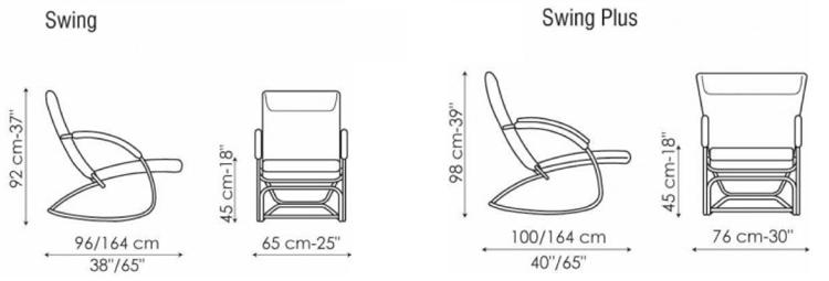 Dondolo misure mercantilpontevedra - Costruire sedia a dondolo ...